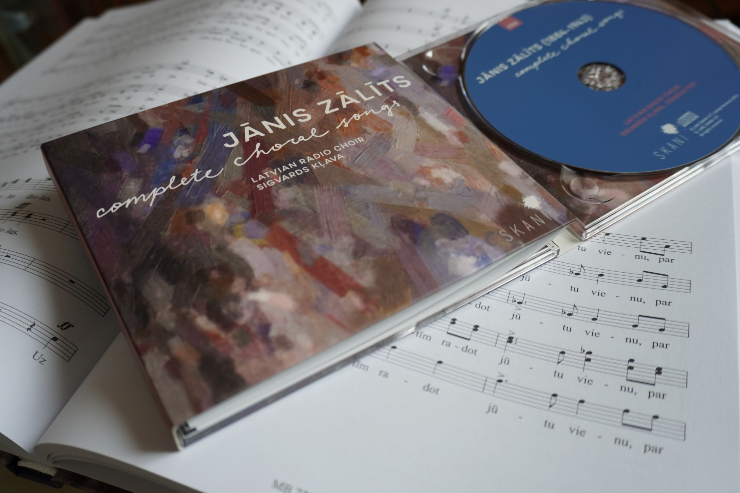 SKANI releases new album of complete choral songs of Jānis Zālīts