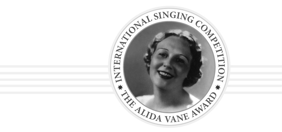 The 6th International Singing Competition - The Alida Vane Award will take place on 25.10.2020